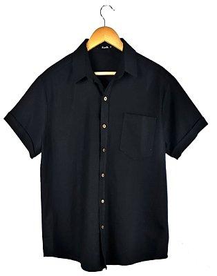 Camisa Linho Black