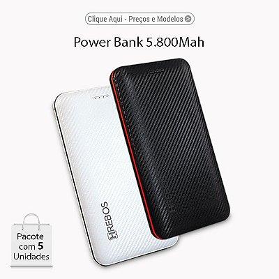 HREBOS Power Bank 5.800Mah PERSONALIZADO (ESTAMPADO)