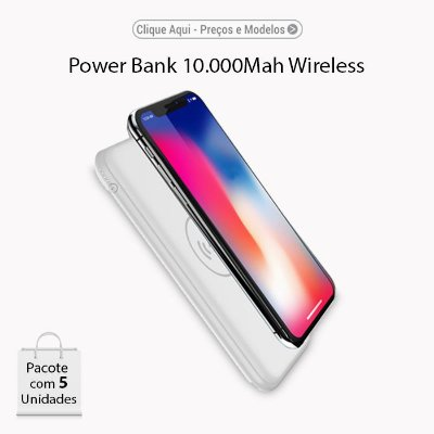 Power Bank ALPHAX 10.000Mah Wireless QI