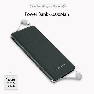 Power Bank ALPHAX 6.000Mah