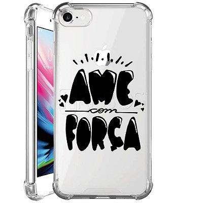 Capa Anti Shock Personalizada - AME COM FORÇA