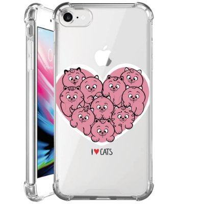 Capa Anti Shock Personalizada - I LOVE CATS