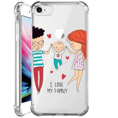 Capa Anti Shock Personalizada - I LOVE MY FAMILY