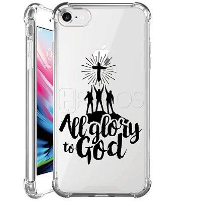 Capa Anti Shock Personalizada - ALL GLORY TO GOD