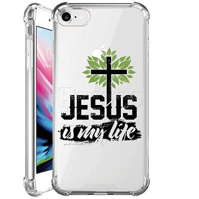 Capa Anti Shock Personalizada - JESUS IS MY LIFE