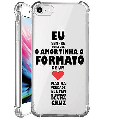 Capa Anti Shock Personalizada - FORMATO DO AMOR