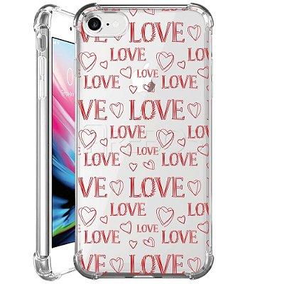 Capa Anti Shock Personalizada - LOVE LOVE LOVE