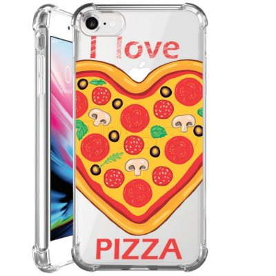 Capa Anti Shock Personalizada - I LOVE PIZZA
