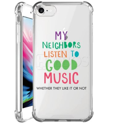 Capa Anti Shock Personalizada - LISTEN TO GOOD MUSIC