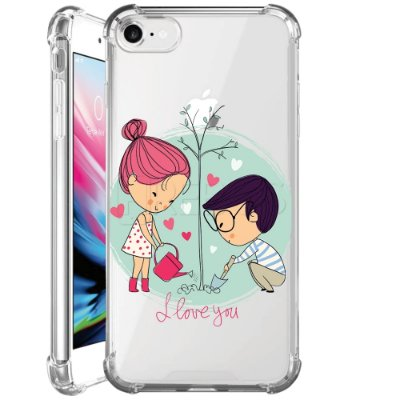 Capa Anti Shock Personalizada - CASAL I LOVE YOU