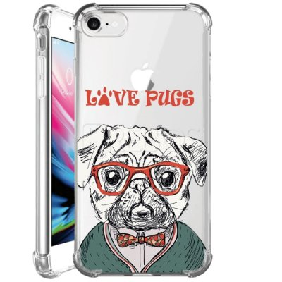 Capa Anti Shock Personalizada - LOVE PUGS