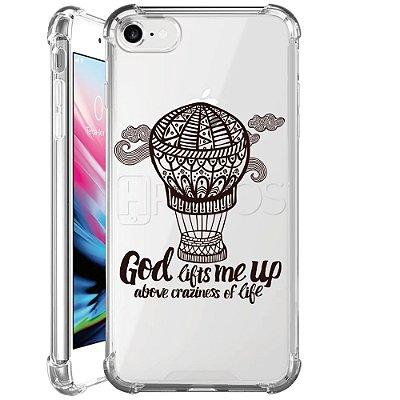 Capa Anti Shock Personalizada - GOD LIFTS ME UP