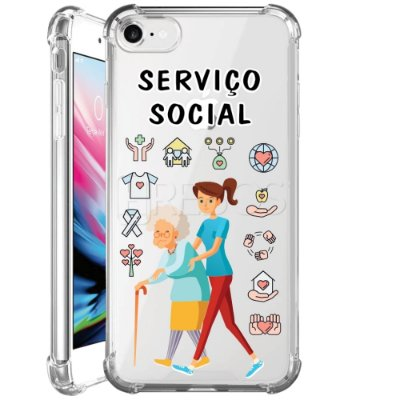 Capa Anti Shock Personalizada - SERVIÇO SOCIAL FEM
