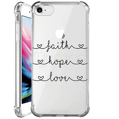 Capa Anti Shock Personalizada - FAITH HOPE LOVE