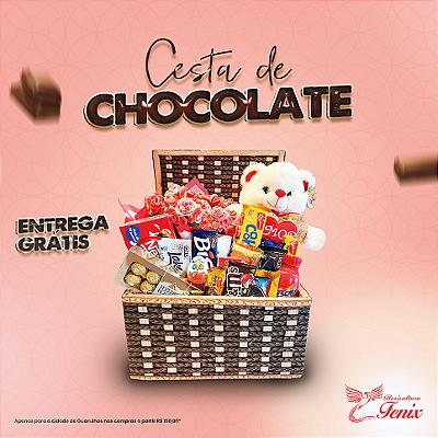 cesta de chocolate