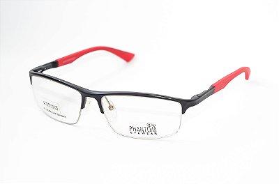 Armação para óculos de grau esportivo masculino grande preto alumínio super leve