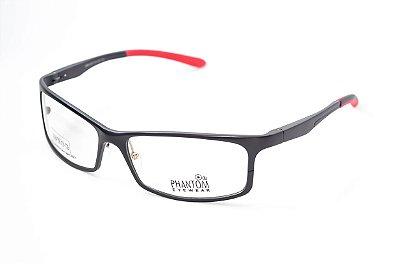 Armação para óculos de grau esportivo masculino grande preto alumínio super leve tamanho 59 aro fechado
