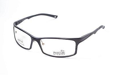 Armação para óculos de grau esportivo masculino extra grande preto alumínio super leve tamanho 63 aro fechado