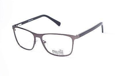 Armação para óculos de grau masculino moderna em metal haste com molas preto e outras cores aro fechado