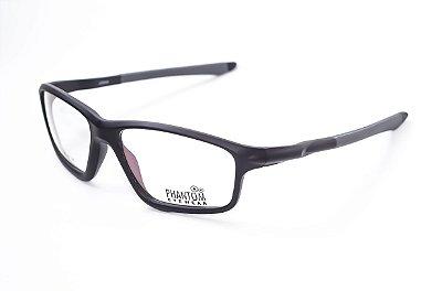 Armação para óculos de grau masculino grande preto em tr90 - hastes com molas estilo esportista tamanho 58