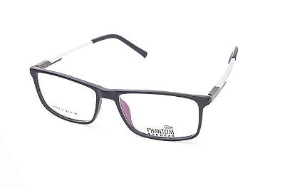 Armação para óculos de grau masculino grande preto quadrado em tr90 - hastes com molas estilo esportista tamanho 56