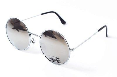 Óculos de Sol feminino phantom redondo tamanho médio espelhado estilo john lennon