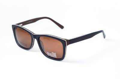 Óculos de Sol masculino preto com Marron phantom radical linha skatista em acetato exclusivo lente polarizada