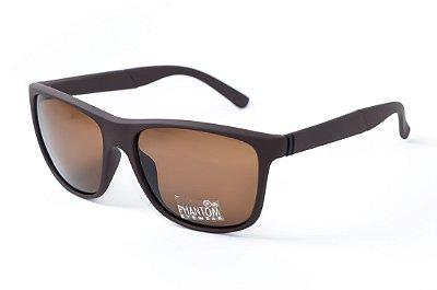 Óculos de Sol masculino Marron fosco phantom radical linha surf sol som e mar
