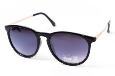 Óculos de Sol Feminino preto redondo radical surf som sol e mar lente degrade