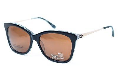 Óculos de Sol Feminino preto gatinho puxado grande butterfly lente polarizada moderno e radical
