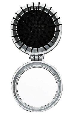 100 Escova com Espelho Redonda em Plástico Resistente. Cód. 342