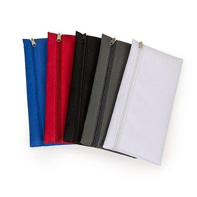 Necessaire de nylon 600 com zíper, frente e verso liso. SK13450