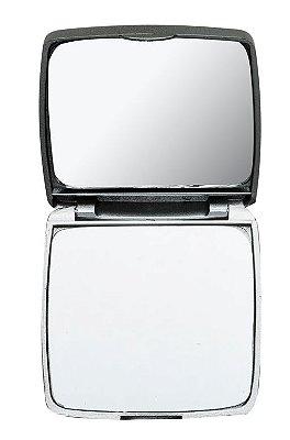 Espelho Duplo Sem Aumento Formato Oval. Cód. 2634