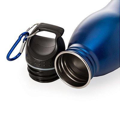 Squeeze de Inox 650 ml com Tampa Rosqueável. Cód. 13586