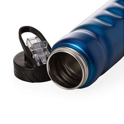 Squeeze de Inox 750 ml Corpo com Design Ergonômico. Cód. 13585