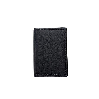 """Bloco de anotações em couro sintético com """"bolso"""" plástico. Cód. 874"""