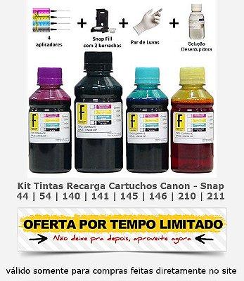 Kit Tinta Formulabs Recarga Cartucho Canon 140 | 141 | 145 | 146 | 210 | 211 + Snap