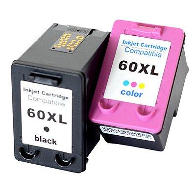 Cartucho de Tinta HP 60 XL | 60XL - HP Deskjet D1660, D2660, F4280, F4480, C4680
