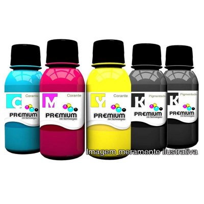 Kit 5 Garrafas de Tinta Canon Impressora G3111 | G 3111 | G-3111