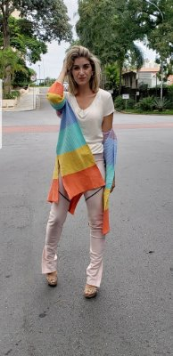 Tricot longuete colorido
