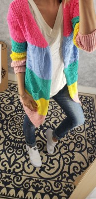 Tricot colorido bolso
