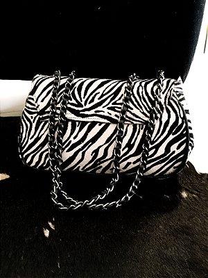 Bolsa couro zebra