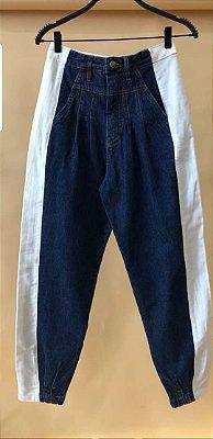 Calça bicolor jeans hs iv