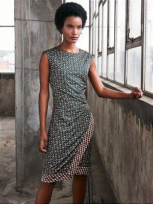 Vestido estampa geometrica kl iv