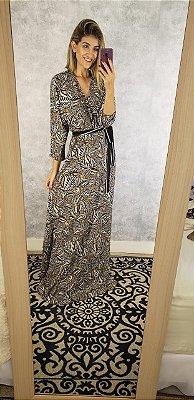 vestido longo estampa