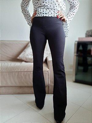 Calça elastico firme cintura intermediaria
