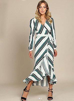 vestido stripe midi ar inv