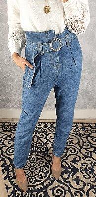 Calça mom jeans cintura alta