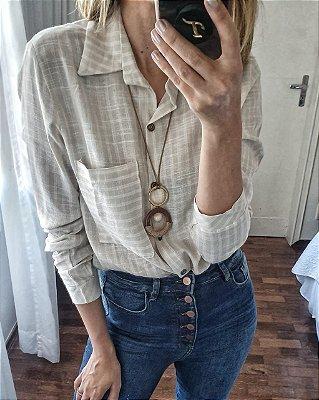 Camisa linho listra