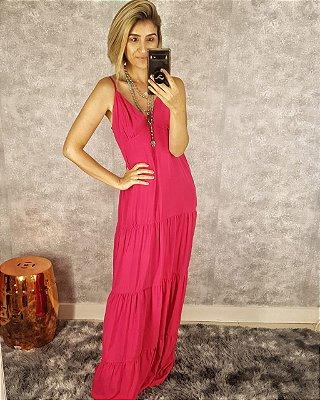 Vestido longo  Pink de Viscose